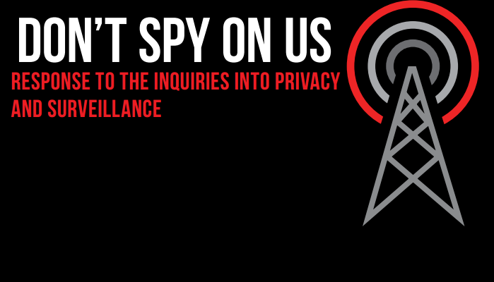 Don't Spy On Us Report