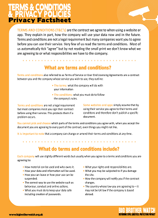 Terms and Conditions & Privacy Policies
